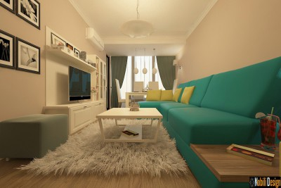 Modern interior design style for apartment in Istanbul