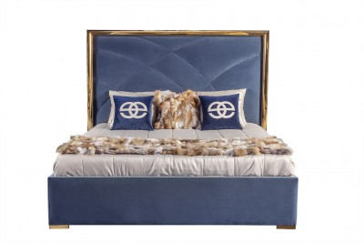 Upholstered bed modern luxury bedroom 01