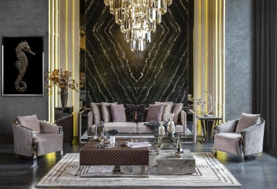 Luxury living room furniture Noir