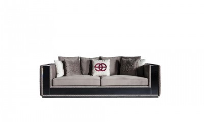 Stylish 3-seater sofa Noir