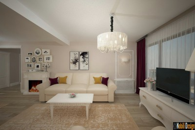 Classic interior design for apartment in Istanbul